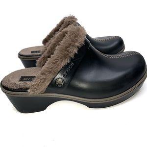 Crocs Cobbler Eva Lined Clog Shoes Black Size 8